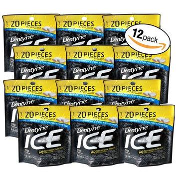 Dentyne Ice 40 Min Fresher Breath 20pc Per Bag (12 Bags) (arctic chill)