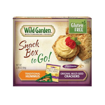 Wild Garden Snack Box to Go! Traditional Hummus/Original Multi-Seed Crackers, 2.26 OZ (Pack of 4)