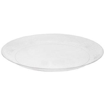 WNA DWP9180 Designerware Plastic Plates, 9 Inch Diameter, Clear, Round, Packs of 10 Plates (Case of 18 Packs)