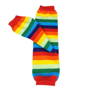 Wrapables Colorful Baby Leg Warmers Set of 4, Black Stripes, Ruched Grey, Red Stripes, Cream