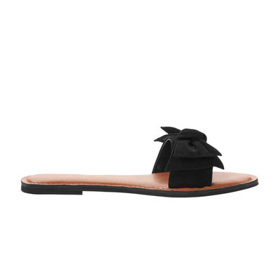 Time and Tru Women's Bow Slide Sandal