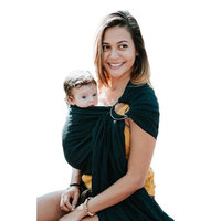 Luxury Ring Sling Baby Carrier – Extra Soft Bamboo & Linen Fabric, Free Carry Bag, for Newborns, Infants & Toddlers - Best Baby Shower Gift - Nursing Cover - from Pura Vida Slings (Dusty Rose)