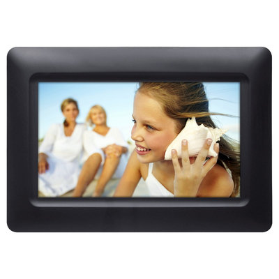 Polaroid Digital Photo Frame 7 Screen - Black