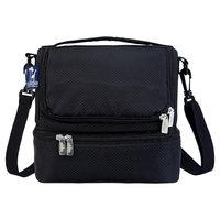 Wildkin Rip-Stop Black Double Decker Lunch Bag