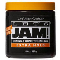 Let's Jam Shine & Conditioning Gel Extra-Hold 14 oz. Jar (3-Pack) with Free Nail File