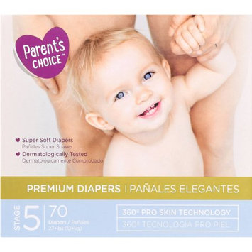 Wal-mart Stores, Inc. Parent's Choice Premium Diapers, Size 5, 70 Diapers