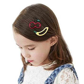 DZT1968 3Pcs Infant Baby Girl cute 3-5CM Cartoon Fruits Hairclip Hairpin Set
