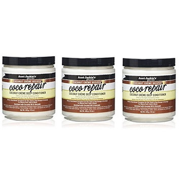 PACK OF 3] AUNT JACKIE'S COCONUT COCO REPAIR CREME DEEP CONDITIONER 15oz : Beauty