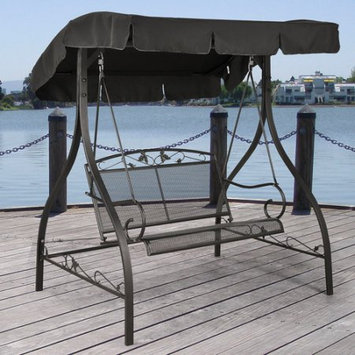 Keysheen Industry shanghai Co., Ltd. Mainstays Jefferson Wrought Iron Outdoor Swing, Seats 2