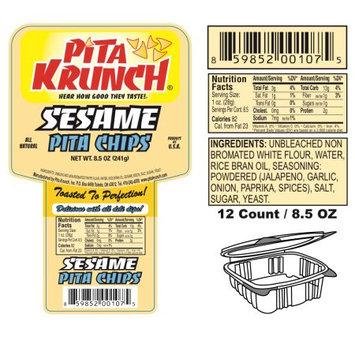 Pita Krunch Inc Pita Krunch /Pita Chips - Sesame