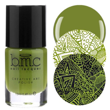 Bundle Monster BMC 1pc Tropix Collection: Limelight - Green Creamy Highly-Pigmented Creative Nail Art Stamping Polish