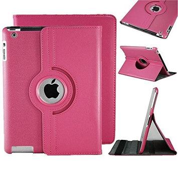 Clever 360 Angle view iPad mini 3 Ipad Mini 2 Ipad Mini 360 Rotating Magnetic PU Leather Case (Rose Pink) Smart Cover Stand for iPad mini 3 Ipad Mini 2 Ipad Mini
