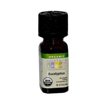 Aura Cacia Organic Eucalyptus Essential Oil, 0.25 Ounce by Trifing