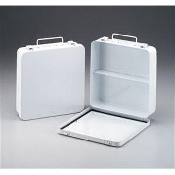 24 Unit- empty metal case- 1 shelf- hinged w/ gasket- 9-1/16 in. x9-1/16 in. x2-3/8 in. - horizontal- 1 ea.