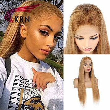 KRN Silky Straight Human Hair Lace Front Wigs Natural Blonde Color Human Hair Full Lace Wigs For Women