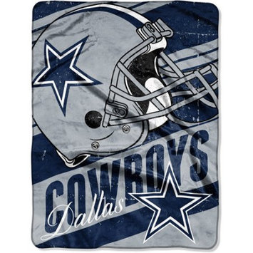 Walmart Inc Dallas Cowboys NFL Deep Slant 46x60 Micro Raschel Throw Plush Blanket