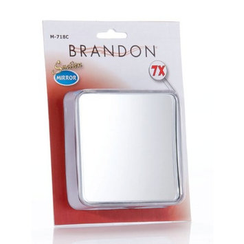 Brandon Femme 7x Square Suction Mirror, 4 Inches
