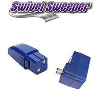 Ontel Replacement 7.2 Volt Battery and Charger for Swivel Sweeper Max and All Swivel Sweepers (Blue)