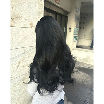 Ugeat 16inch Flip in Real Hair Extensions 80Gram Off Black Color Halo in Hair Extensions Thick End Remy Human Hair Extensions
