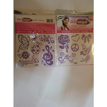 Skin Sugar Gltter Tattoos One Package with 13 Tattoos