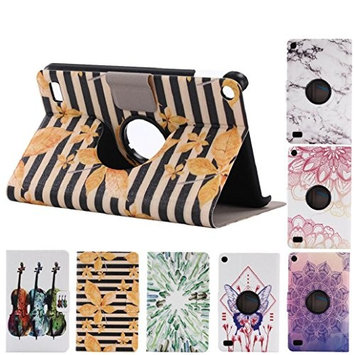 For Kindle Fire HD 7, AMA(TM) Auto Sleep Folding Painted Leather Stand Case Cover for Amazon Kindle Fire HD 7 2015 Tablet