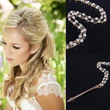 Leoy88 Women Girls Head Chain Jewelry Headband Headpiece Hair Band as Gift