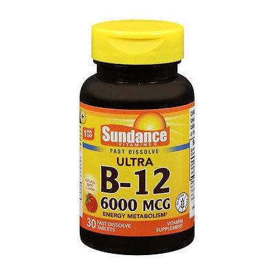 Sundance Ultra B-12 6000 mcg - 30 Tablets, Pack of 2