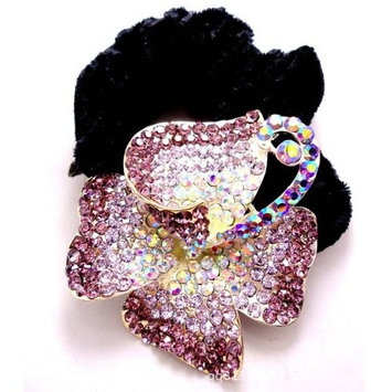 Hair jewelry, alloy rhinestones flannelette hair rope