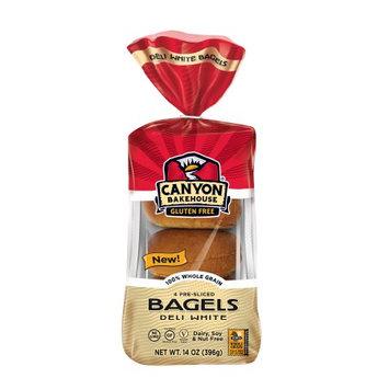 Canyon Bakehouse Gluten Free Deli White Bagels, 4 bagels, 14 oz