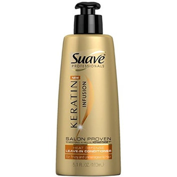 Suave Professionals Keratin Infusion Heat Defense Leave-In Conditioner 5.1 oz (6 Pack)