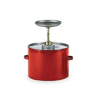 Eagle P-702 Plunger Galvanized Steel Safety Can, 2 Quart Capacity, Red