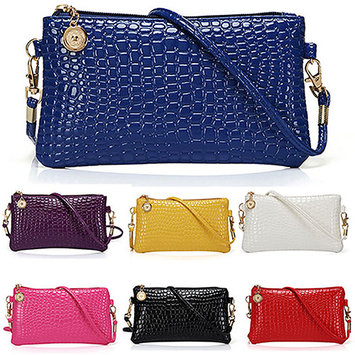 Women Fashion Shoulder Bag Tote Messenger Faux Leather Zipper Satchel Handbag