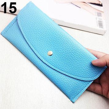 Women Fashion Thin Purse Long Clutch Wallet Faux Leather Handbag Card Holder