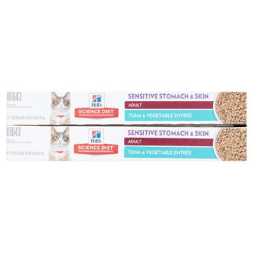 Hills Hill's Science Diet Sensitive Stomach & Skin Tuna & Vegetable Entree Cat Food, 2.9 oz, Case of 24.