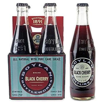 Boylan Black Cherry Soda, 12 oz Glass Bottles