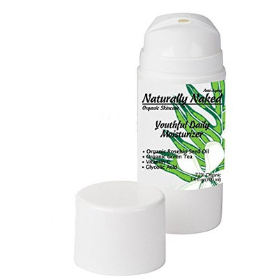 Youthful Daily Moisturizer, 3.4 oz (100 ml), Advanced Moisturizing Cream, Non Greasy, Dark Circles Eraser, Crepey Skin, Lotion Restores Firmness, Kosher Cert. Materials, 72% Organic