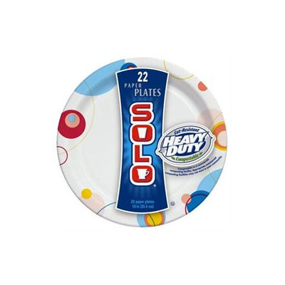 Solo 10IN Paper Plates, 22 count