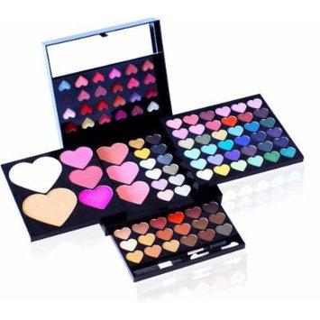 Shany © 100pc Makeup Kit Heart and Kisses - Eyeshades, Blush, Lipgloss -Cameo Collection