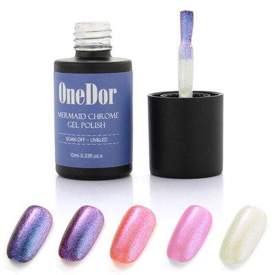 OneDor Mermaid Chrome Gel Polish - UV Led Cured Required Soak Off Nail Polish ( 01 - Galaxy)