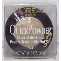 L'Oreal QuickPowder Sheer Quick Powder Matte Finish Pale 0.16 oz / 4.5g