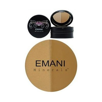 Emani Duo Mineral Concealer & Setting Powder - 622 Medium-Olive