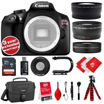Circuit City Canon T6 18MP DSLR Camera Body w/3' LCD - 3 Lens - 32GB - 20PC Kit - Opteka 10x HD Macro Lens - Opteka 0.43X Wide Angle/Macro Lens - Opteka 2.2X HD Telephoto Lens + 3YR Warranty