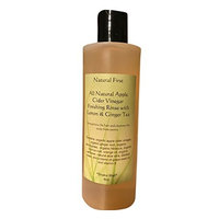 Natural First Organic Apple Cider Vinegar Finishing Rinse w/ Lemon and Ginger to Strengthen Damaged Hair, Cleans the Scalp, and Prevent Split Ends