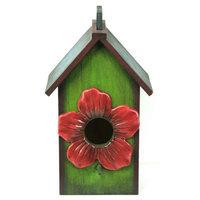 Pinnacle Strategies B92759/2 Wood Bird House, Multi Color (2 Pack)