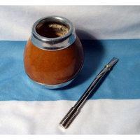 ARGENTINA MATE GOURD YERBA TEA CUP WITH STRAW BOMBILLA KIT DIET DETOX DRINK 0052