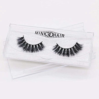 Abelyn Reusable Fake Eyelashes Thick Natural Look Curly Mink Lashes Real Soft Mink Fur Black Color Pure Handmade False Lashes