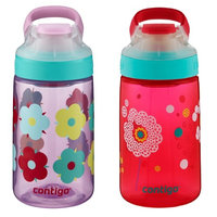 Contigo AUTOSEAL Gizmo Sip Kids Water Bottle 14oz Set Dandelion & Thistle Petal (Pack of 2)