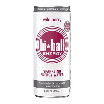 Hiball Energy Sparkling Water, Wild Berry, 8.4 ounce, 24 Count [Wild Berry]