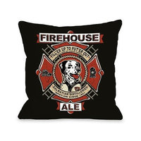 One Bella Casa Firehouse Ale Pillow, 16 by 16-Inch