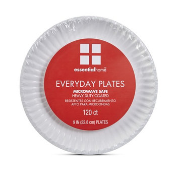 Essential Home Everyday Paper Plates - 120 Count